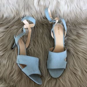 Nine West Baby Blue Low Heels